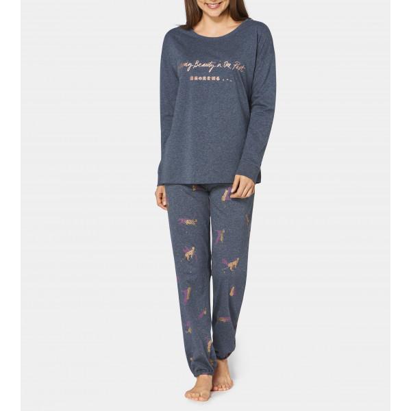 Pyjama Bleu Chiné Triumph