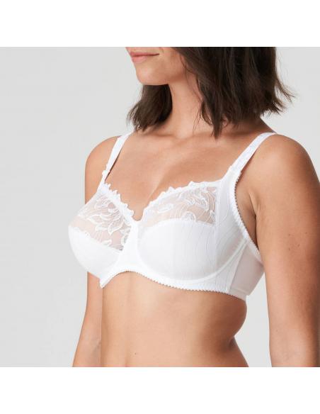 Soutien gorge emboitant blanc Deauville grande taille lingerie sous vetement PrimaDonna