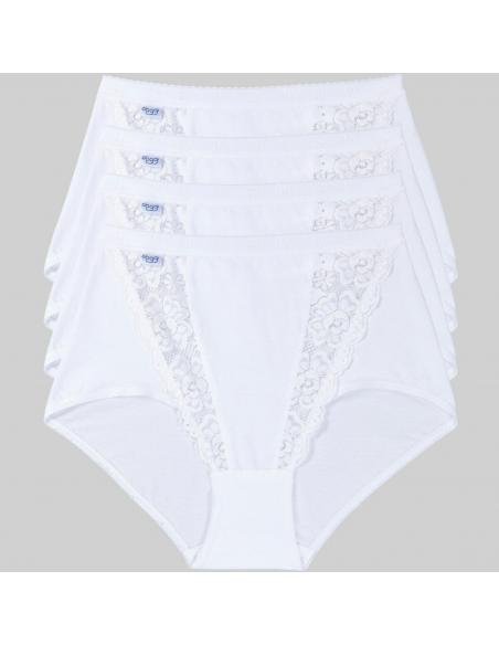 Culotte blanche Maxi Chic lot de 4 Sloggi lingerie sous vetement