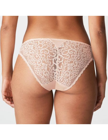 Slip italien dentelle I Do Primadonna Twist rose poudre nude lingerie sous vêtement