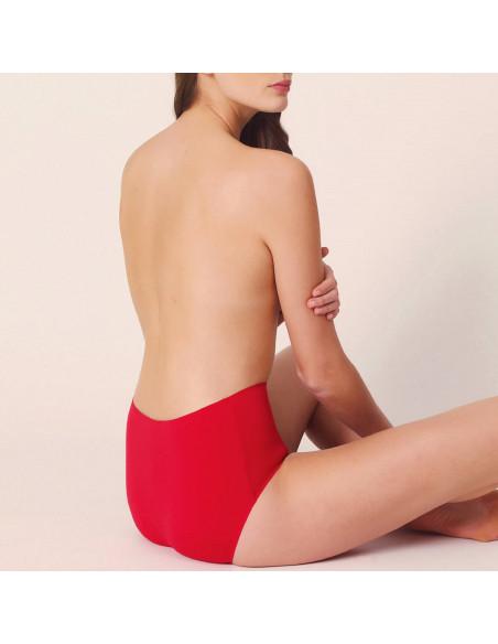 Culotte haute sans couture invisible lingerie rouge scarlet Color Studio Marie Jo sous-vêtement